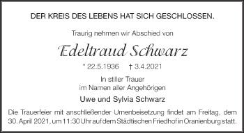Anzeige Edeltraud Schwarz