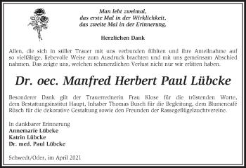 Anzeige Paul Lübcke