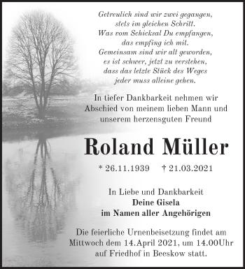 Anzeige Roland Müller
