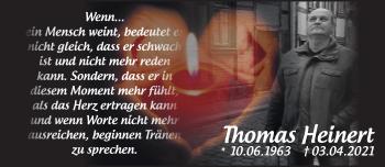 Anzeige Thomas Heinert