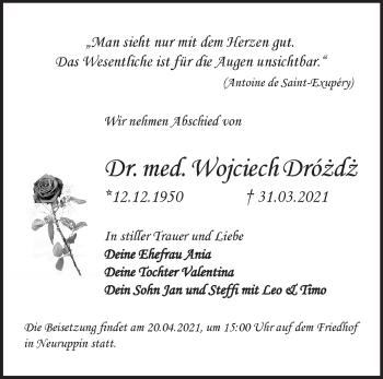 Anzeige Wojciech Drózdz