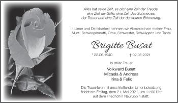 Anzeige Brigitte Busat