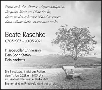 Anzeige Beate Raschke