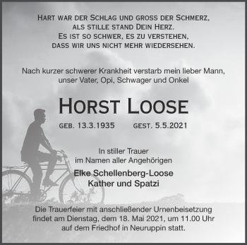Anzeige Horst Loose