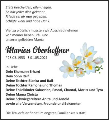 Anzeige Marion Oberhoffner