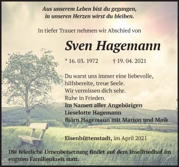 Anzeige Sven Hagemann