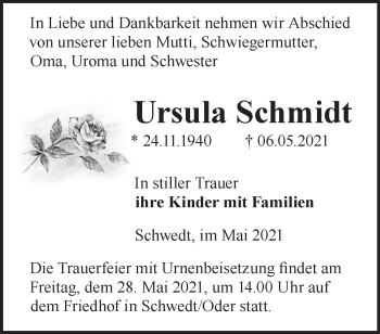 Anzeige Ursula Schmidt