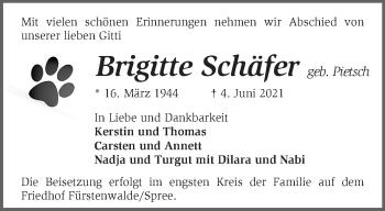 Anzeige Brigitte Schäfer