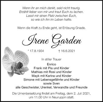 Anzeige Irene Garden