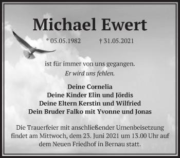 Anzeige Michael Ewert