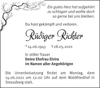 Anzeige Rüdiger Richter