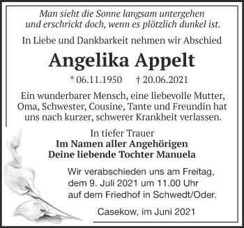 Anzeige Angelika Appelt