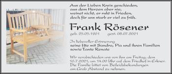 Anzeige Frank Rösener