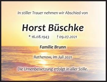 Anzeige Horst Büschke
