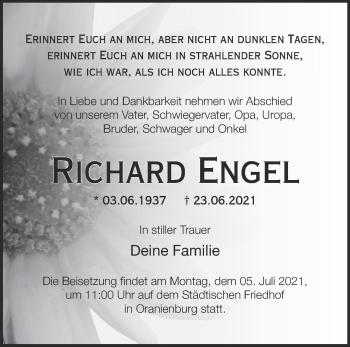 Anzeige Richard Engel
