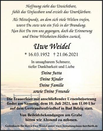 Anzeige Uwe Weidel
