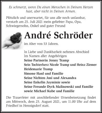 Anzeige André Schröder