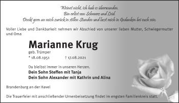 Anzeige Marianne Krug