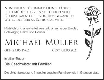 Anzeige Michael Müller