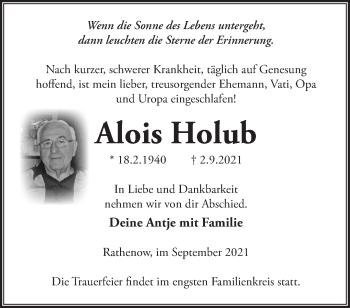 Anzeige Alois Holub