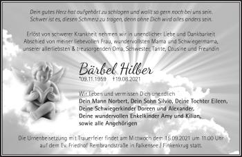 Anzeige Bärbel Hilber