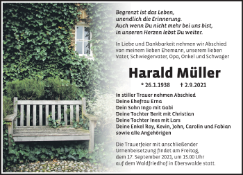 Anzeige Harald Müller