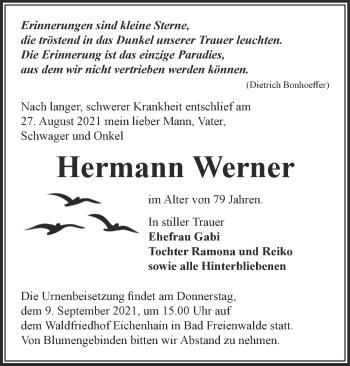 Anzeige Hermann Werner