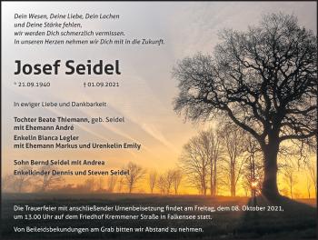 Anzeige Josef Seidel