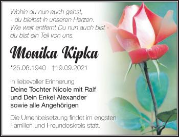 Anzeige Monika Kipka