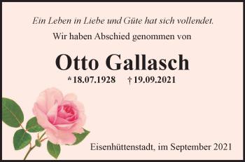Anzeige Otto Gallasch
