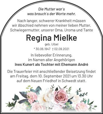 Anzeige Regina Mielke