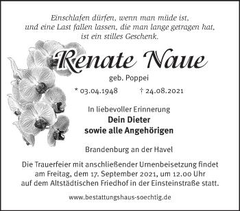 Anzeige Renate Naue