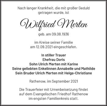 Anzeige Wilfried Merten